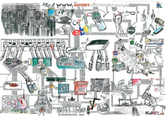 Internet-City, 2010, Print auf Leinwand, 150 x 210 cm