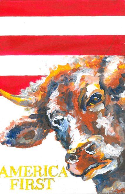 America First, Acryl auf Leinwand, 30 x 20 cm, 2017