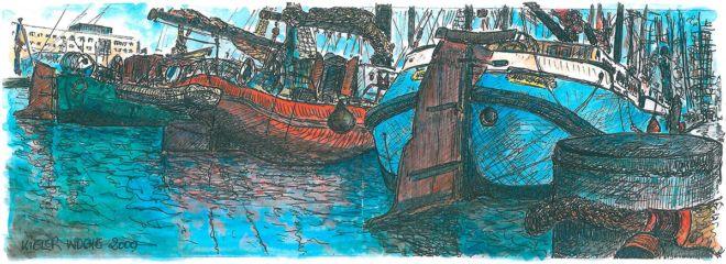 Meine Hollandschoner, Kieler Woche Gäste, Print auf Leinwand, 50 x 140 cm, 2009