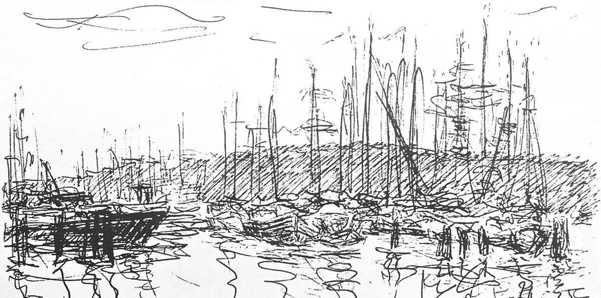Bootshafen, Skizze