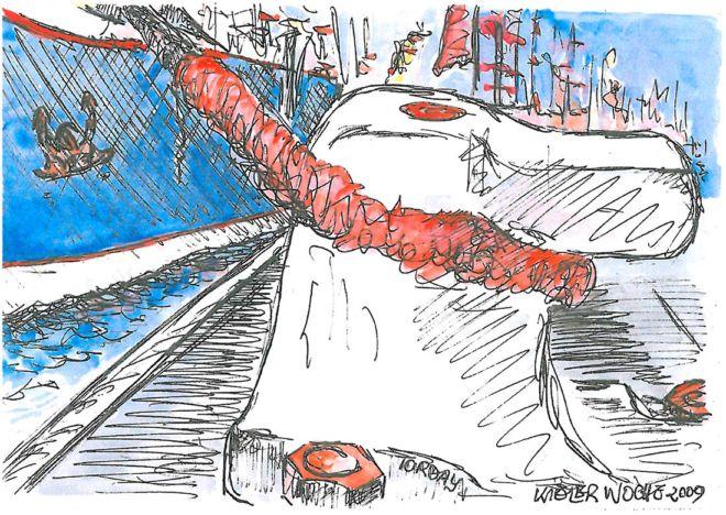 Zeichnung, 2009, Aquarell, DIN A5