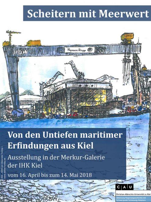 'Maritime Erfindungen', Ausstellung in der Merkur-Galerie