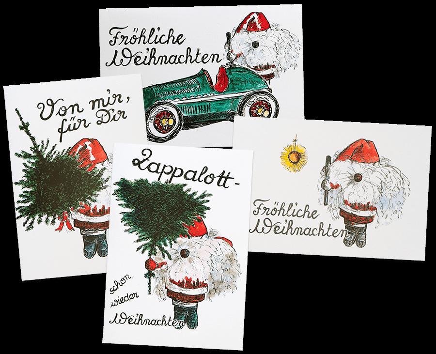 Collage von Weihnachts-Klapp-Karten